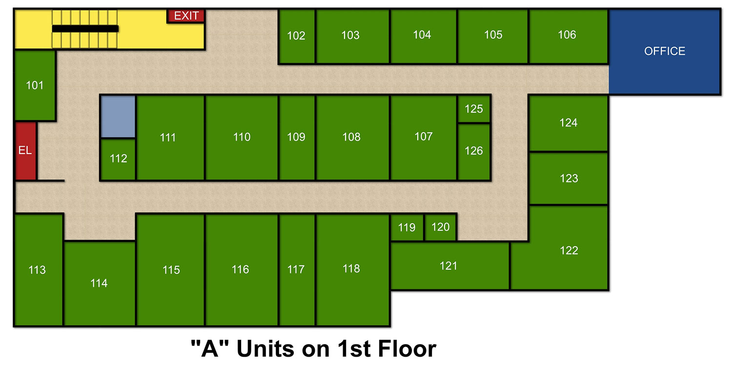 A Unit 1st Floor Storage Facility